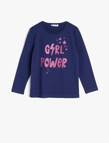 Koton Kids Sim Detayli T-Shirt Lacivert
